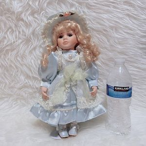Vintage Lady Porcelain Doll Nice Dress